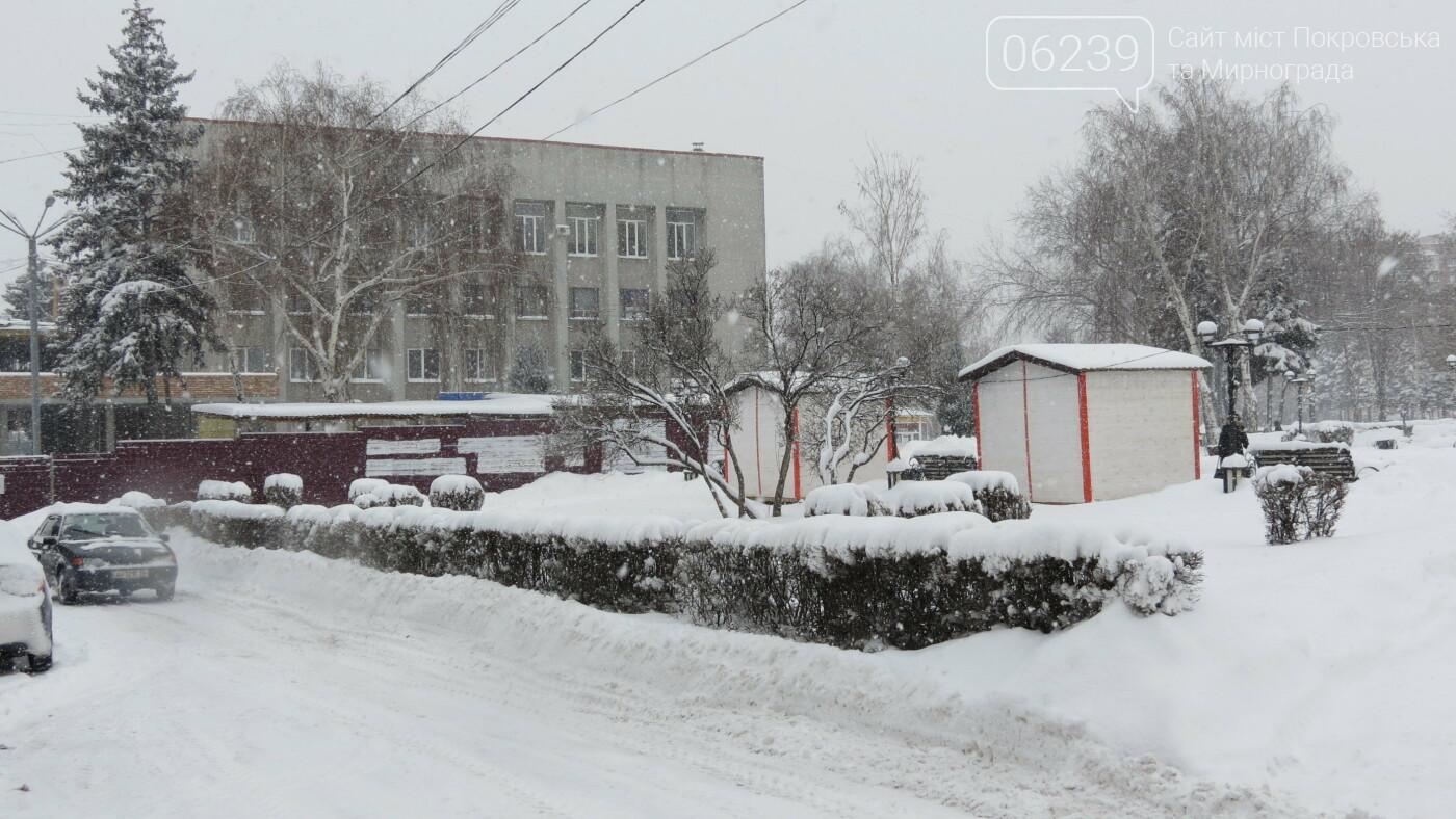 В Покровске с утра снегопад… работают коммунальщики и техника, фото-36