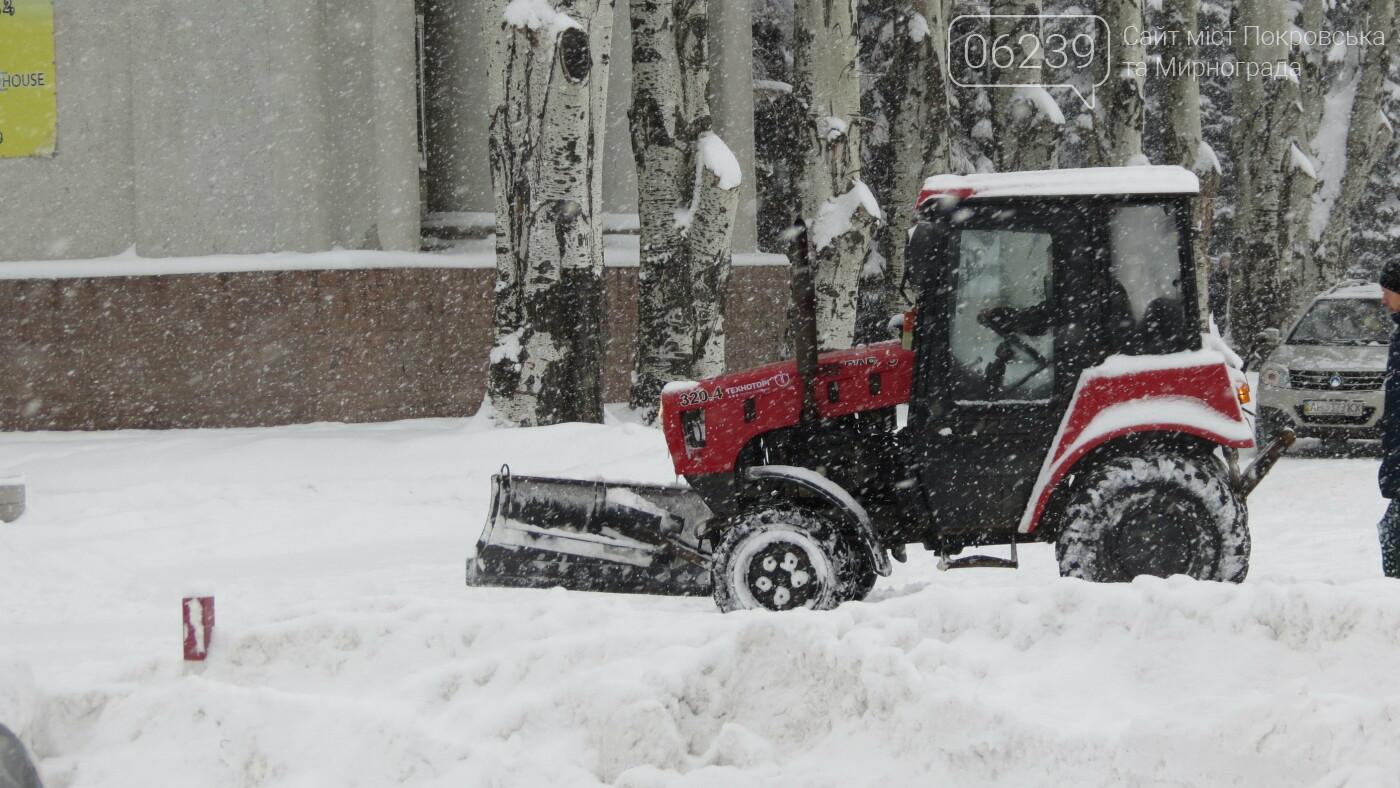 В Покровске с утра снегопад… работают коммунальщики и техника, фото-8