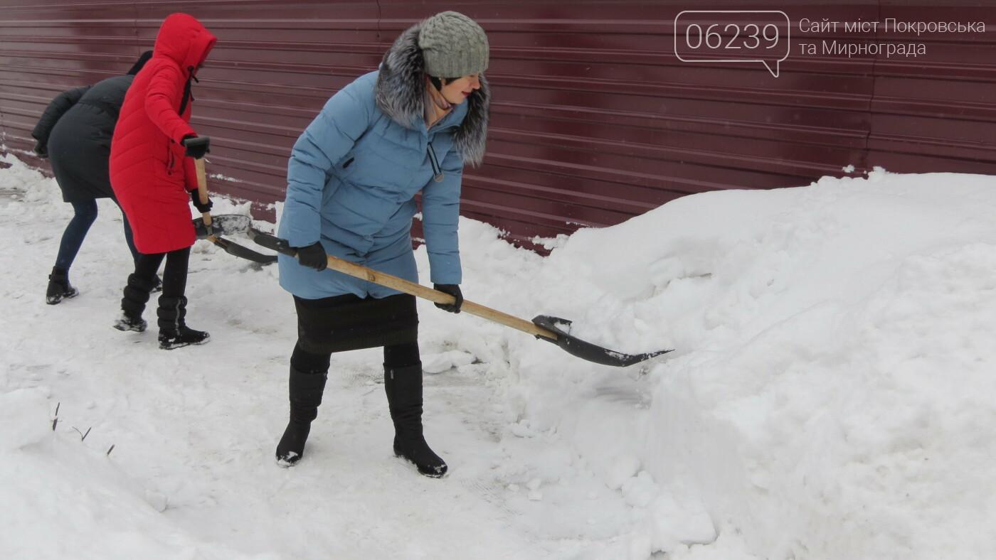 Сотрудники покровской мэрии взяли в руки лопаты, фото-1