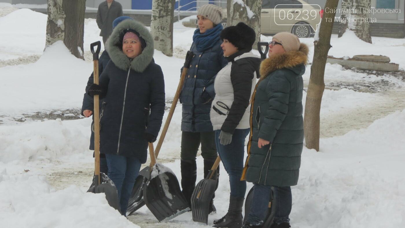 Сотрудники покровской мэрии взяли в руки лопаты, фото-9