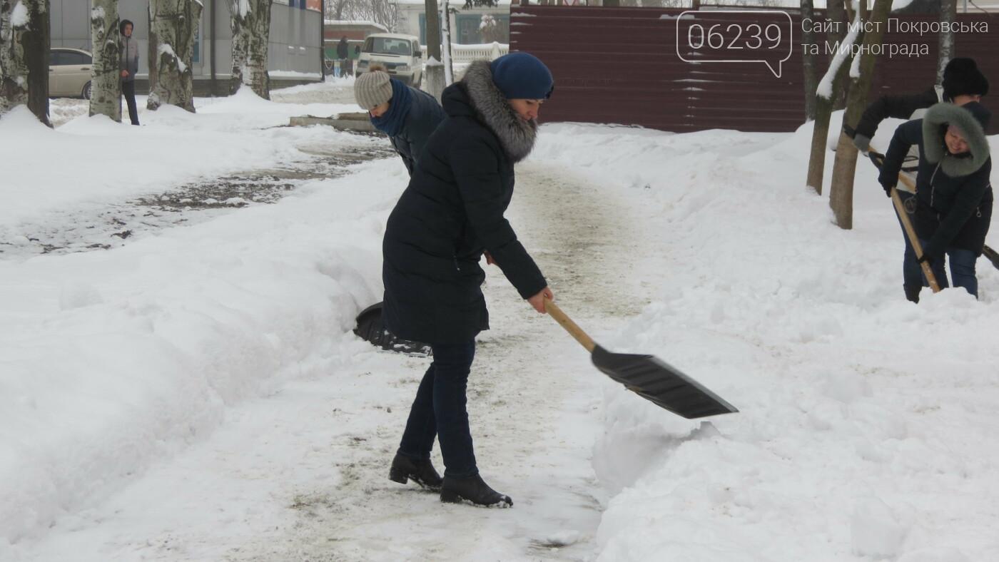 Сотрудники покровской мэрии взяли в руки лопаты, фото-3