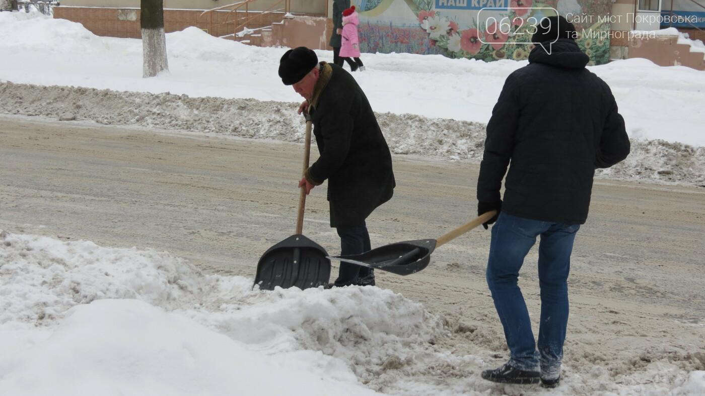 Сотрудники покровской мэрии взяли в руки лопаты, фото-15