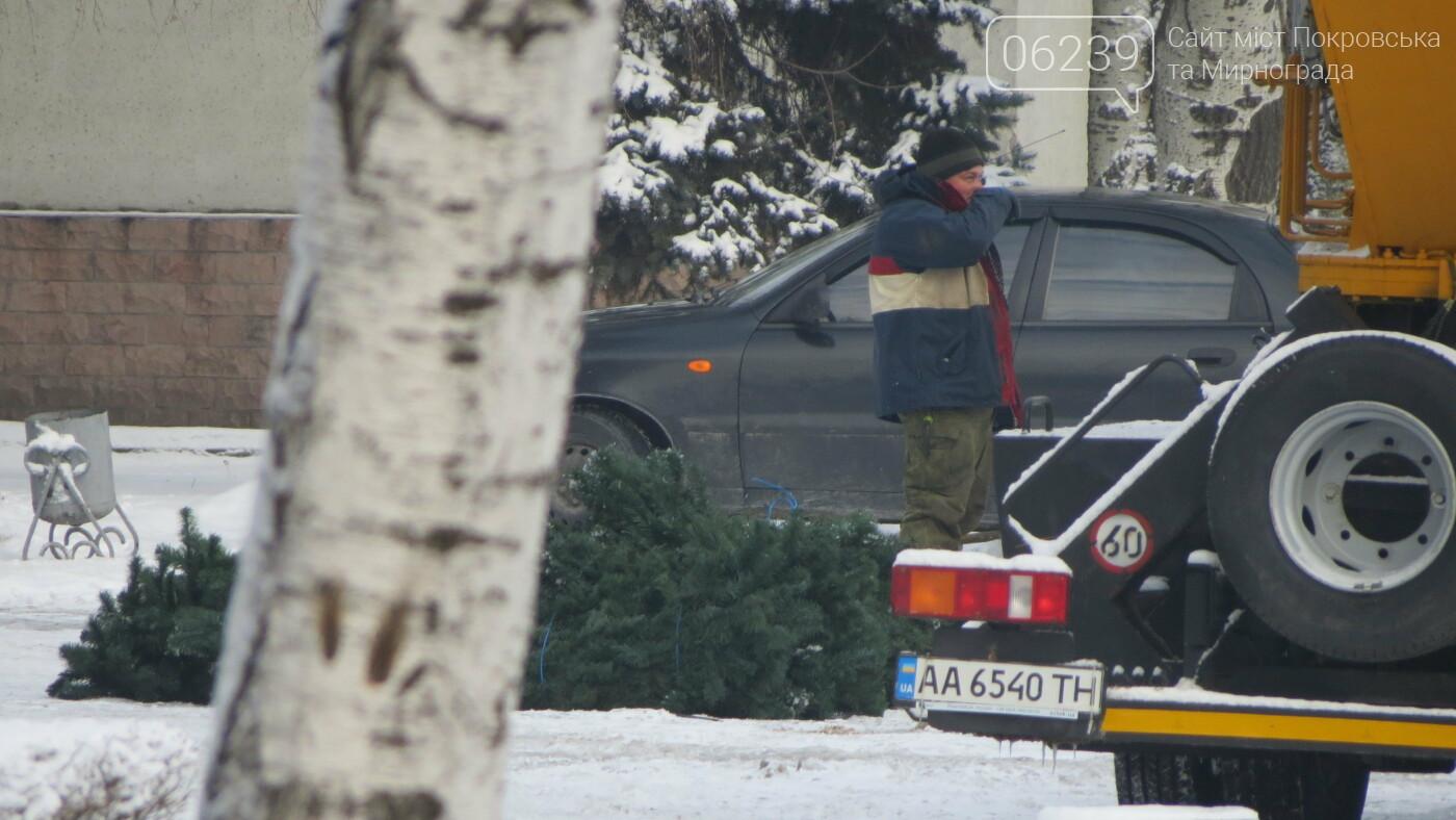 В Покровске начали демонтаж главной елки города, фото-2