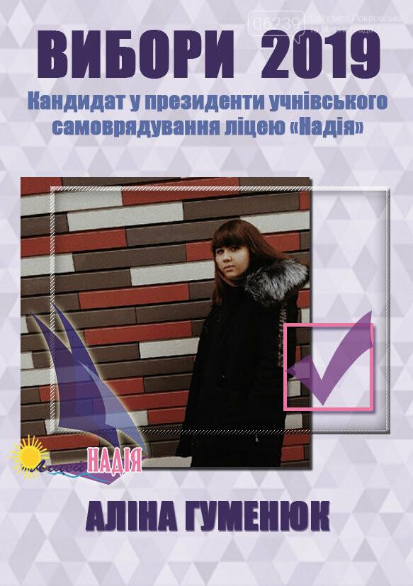"""У Покровському міському ліцеї """"Надія"""" пройшла передвиборча агітація на посаду президента учнівського самоврядування, фото-1"""