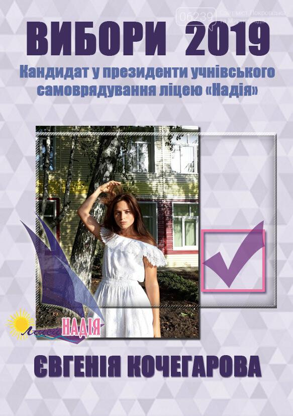 """У Покровському міському ліцеї """"Надія"""" пройшла передвиборча агітація на посаду президента учнівського самоврядування, фото-3"""