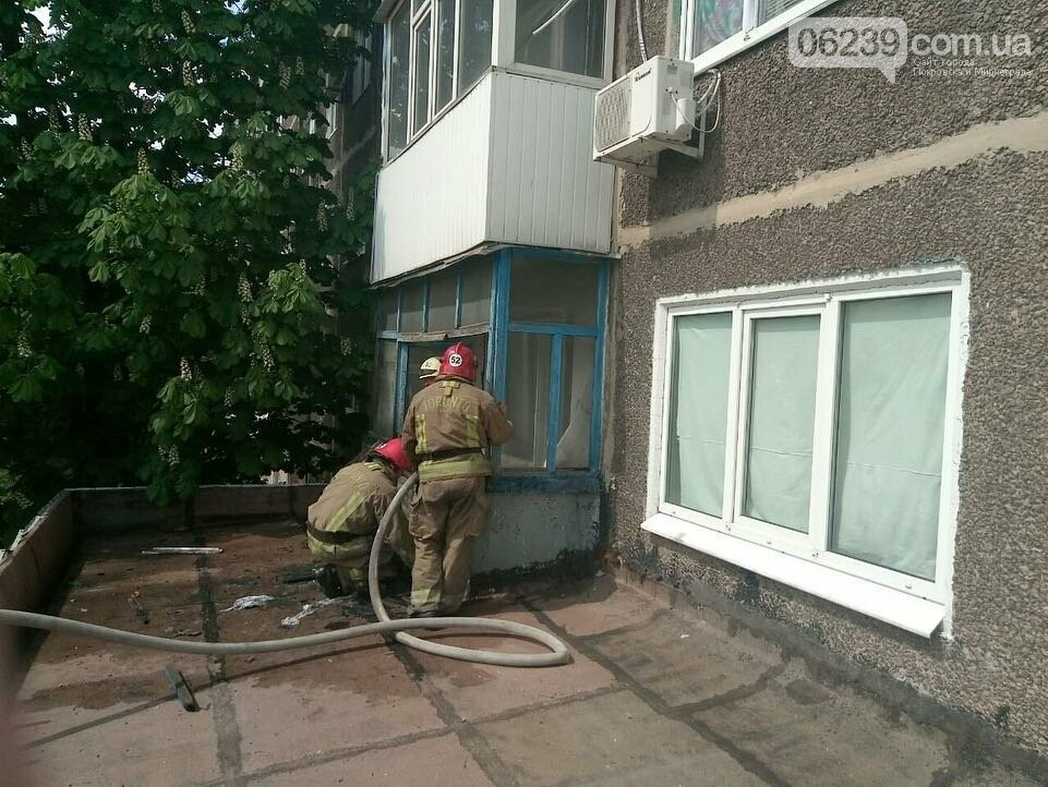 В Мирнограде горел балкон многоэтажного здания, фото-3