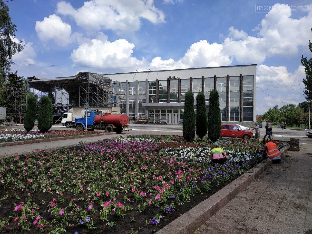 В Покровске на площади Шибанкова проходит подготовка ко Дню Европы, фото-3