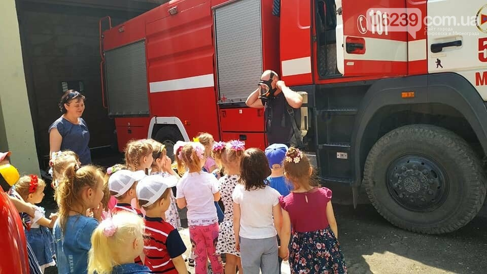 До рятувальників Мирнограда завітала малеча на пізнавальну екскурсію, фото-1