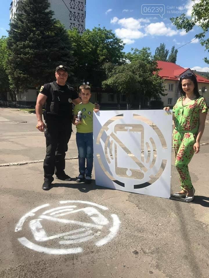 Предупредительные надписи появились перед пешеходными переходами в Покровске, фото-6