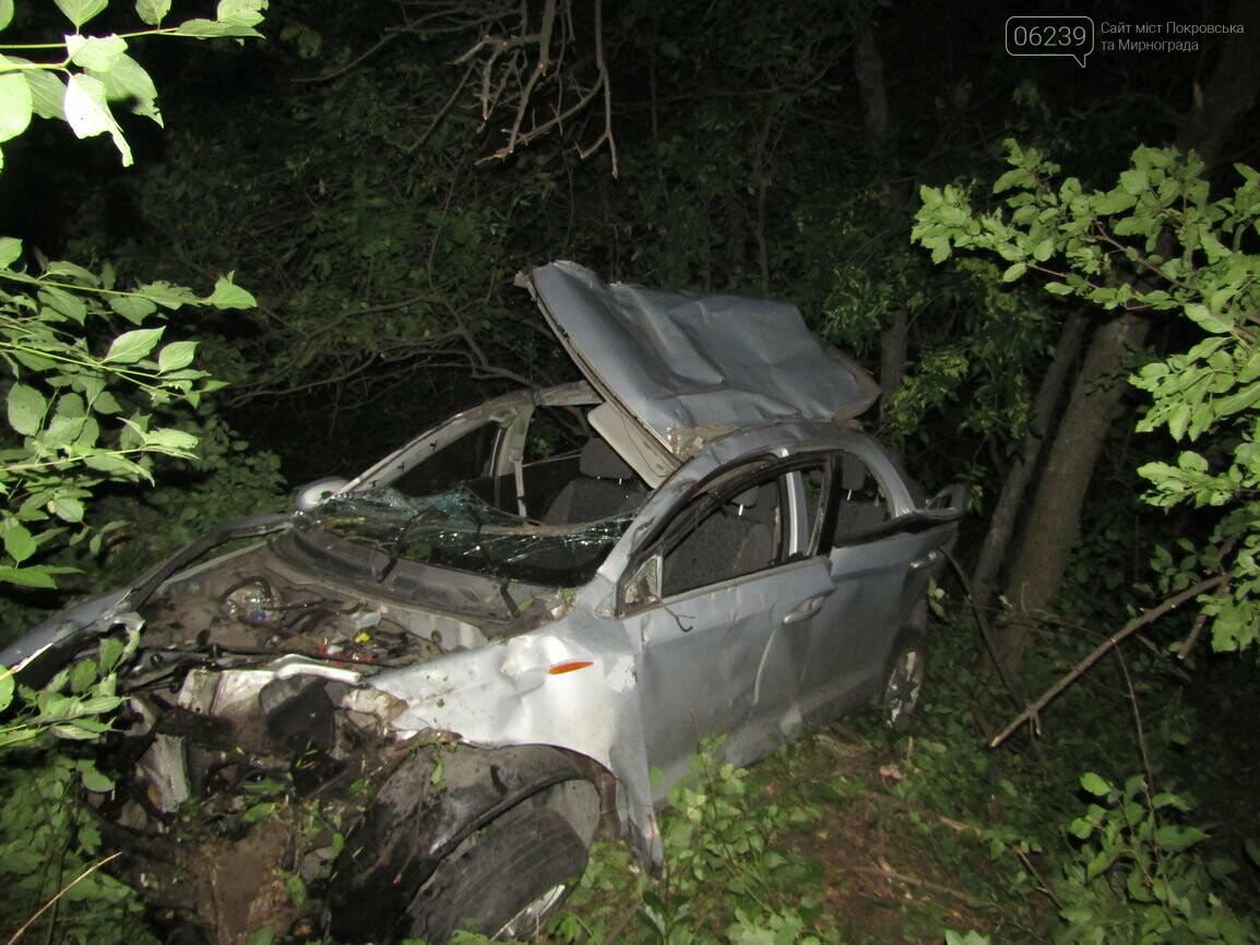 Ночное ДТП в Покровске: пять человек госпитализировано в больницы, фото-1