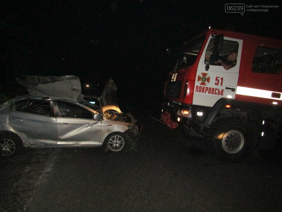 Ночное ДТП в Покровске: пять человек госпитализировано в больницы, фото-2
