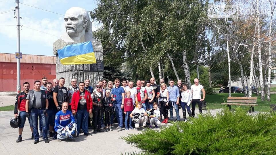В Мирнограде массовым мотопробегом отметили День Независимости Украины, фото-1
