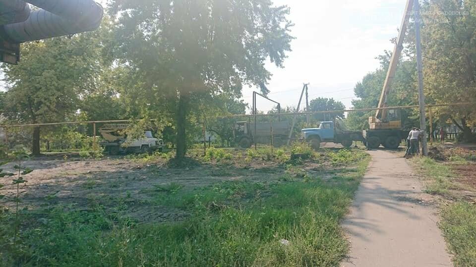 """Загадочная вырубка деревьев на """"5/6"""": в Мирнограде хотят обустроить новый сквер , фото-7"""