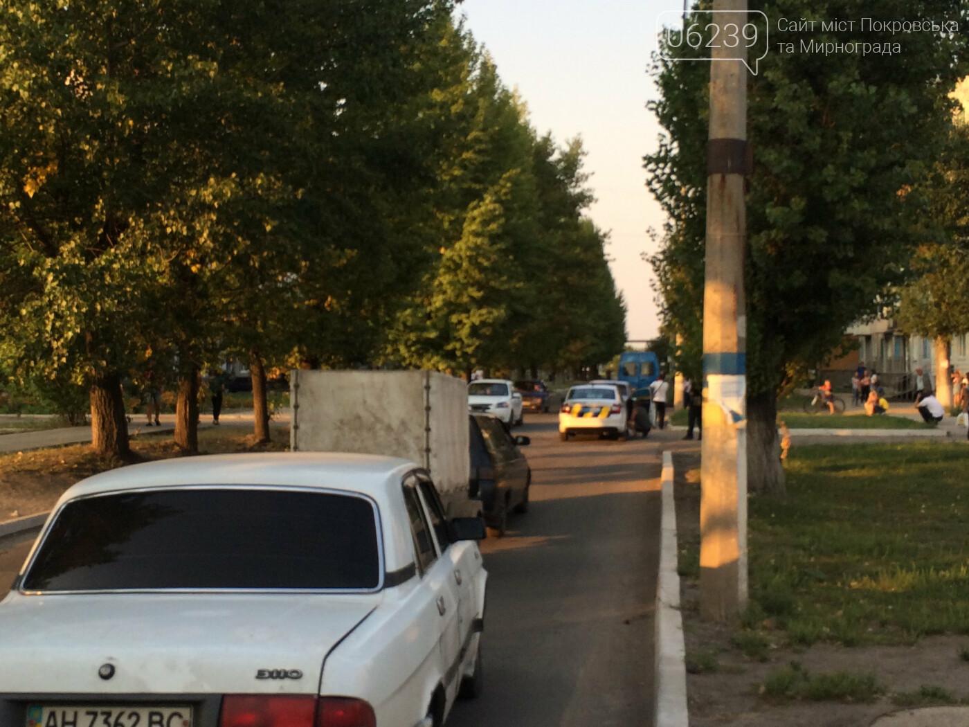 Вчера в Мирнограде произошло ДТП, столкнулись легковушка и мотороллер , фото-1