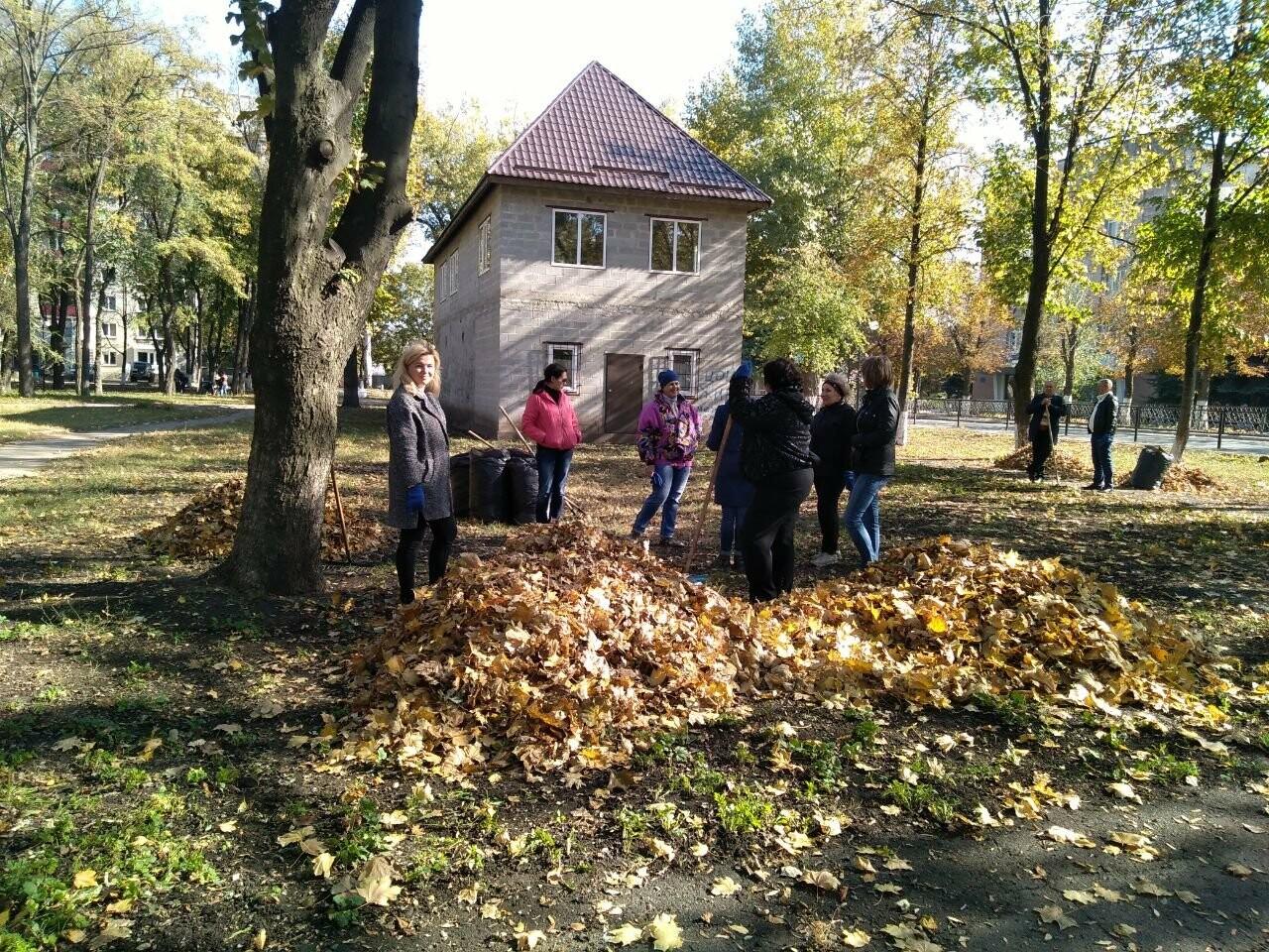 В Покровске провели первый осенний субботник, фото-1