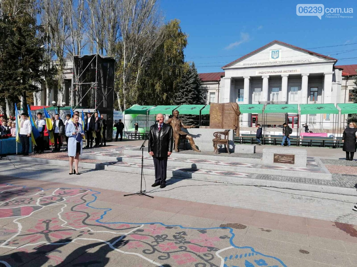 В Покровске состоялось торжественное открытие памятника Шевченко, фото-13