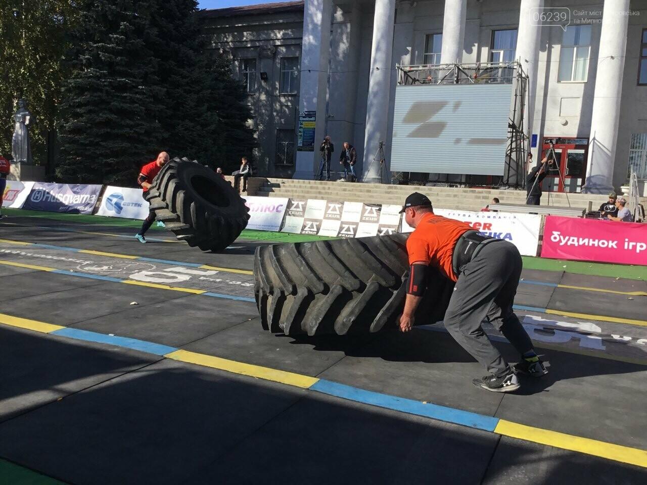 В Покровске на площади Шибанкова проходят соревнования лучших стронгменов страны, фото-8
