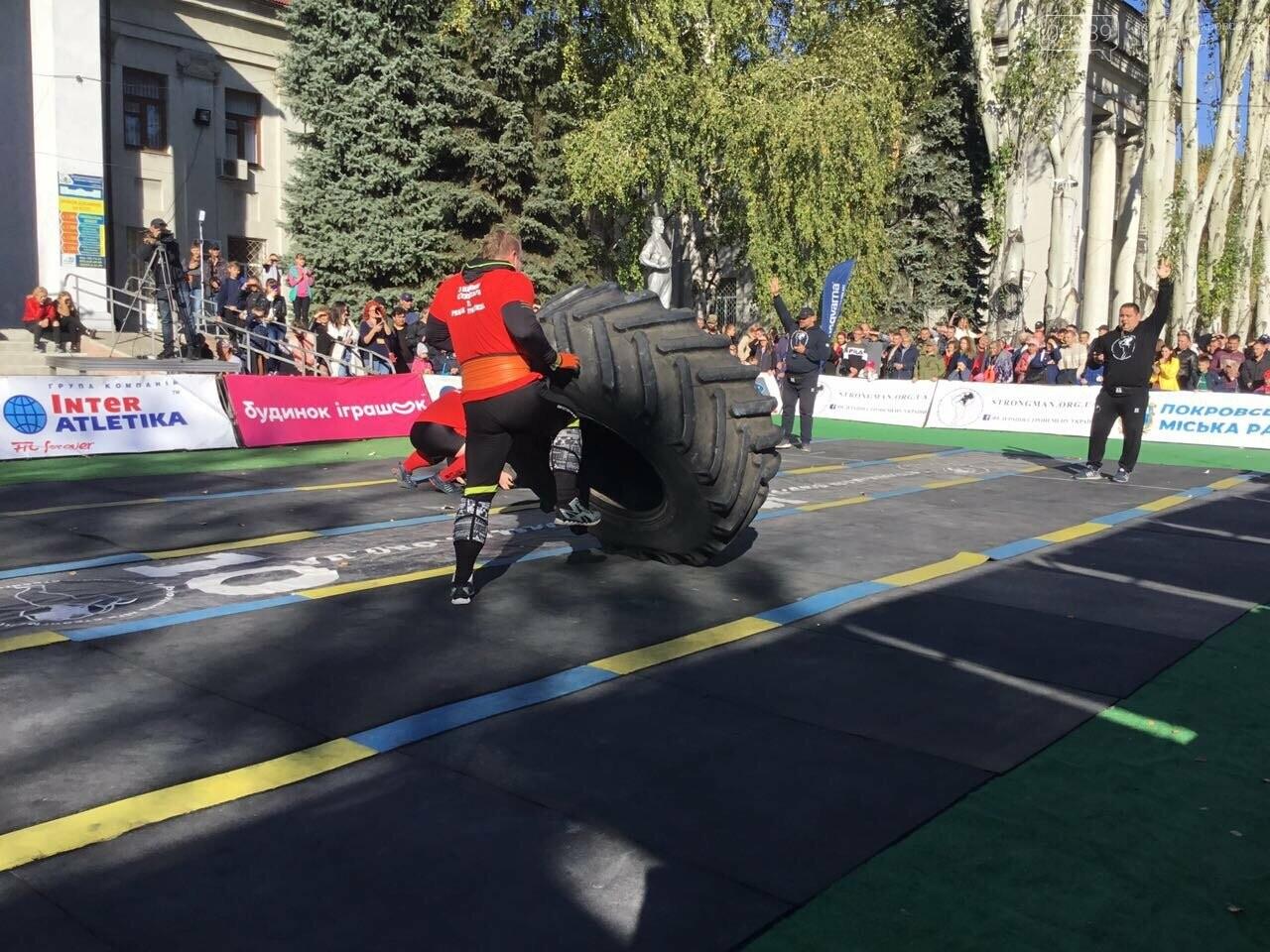 В Покровске на площади Шибанкова проходят соревнования лучших стронгменов страны, фото-19