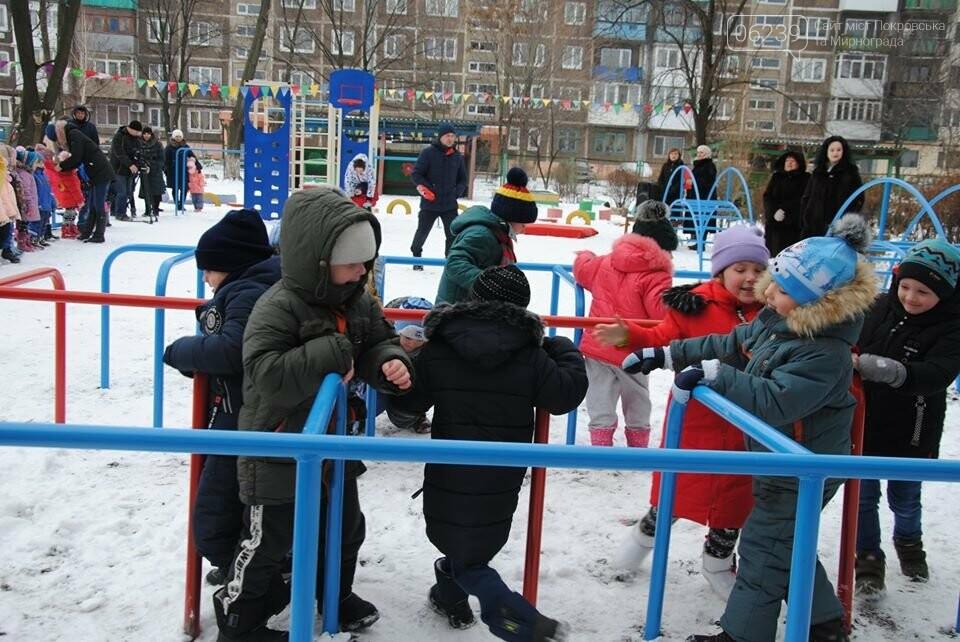 У Мирноградському ДНЗ «Мальвіна» відбулося відкриття спортивного дитячого майданчика, фото-1