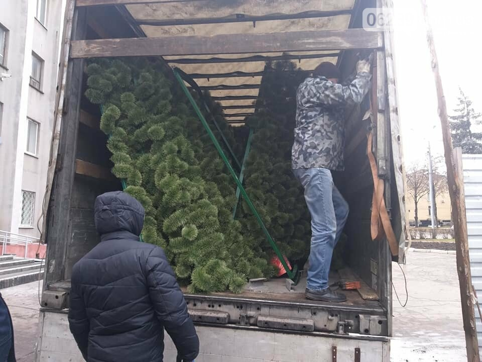 В Покровск сегодня доставили новогоднюю ёлку за миллион, фото-2