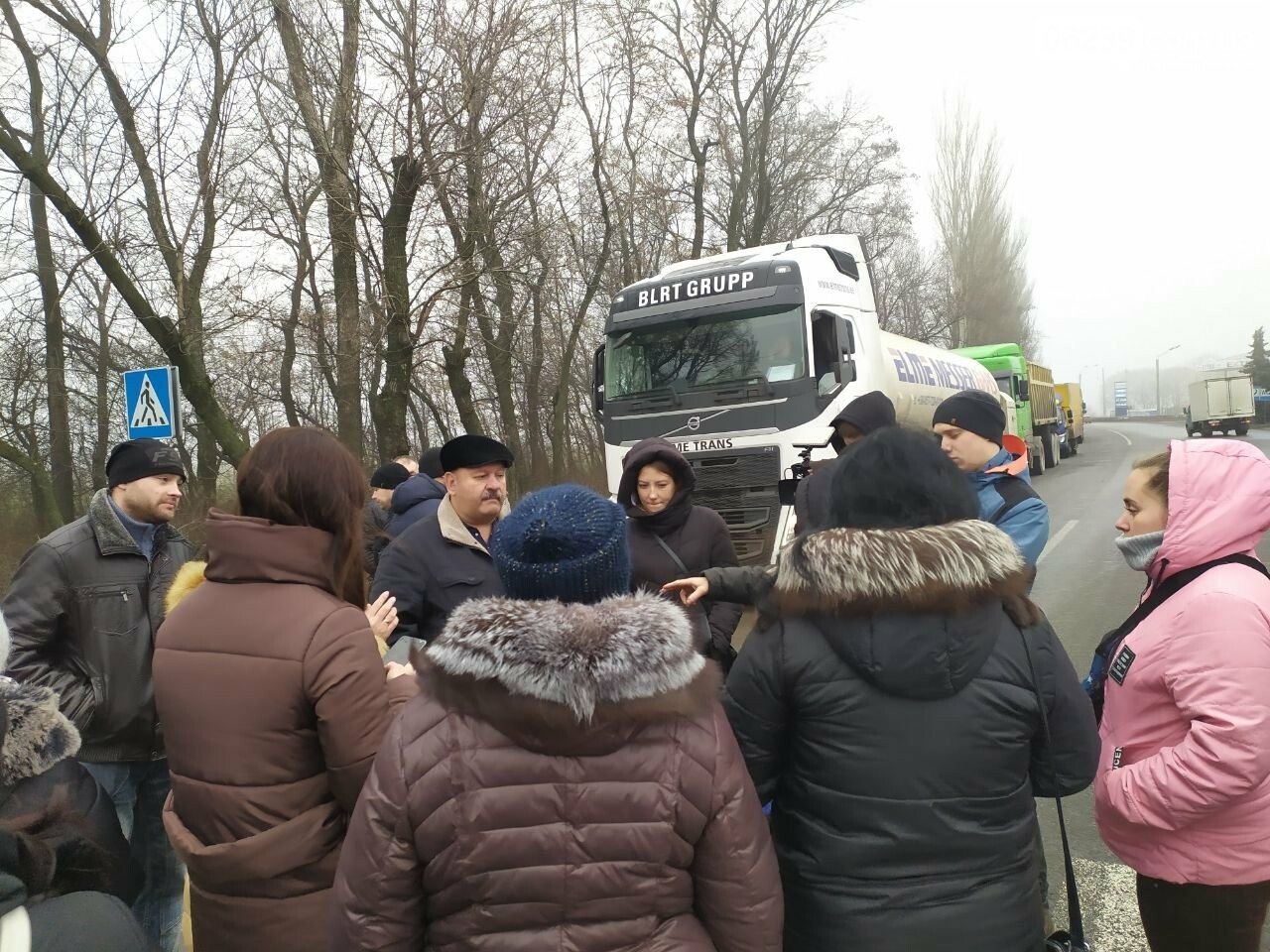 В Родинском жены шахтеров и горняки вновь вышли на акцию протеста, фото-1