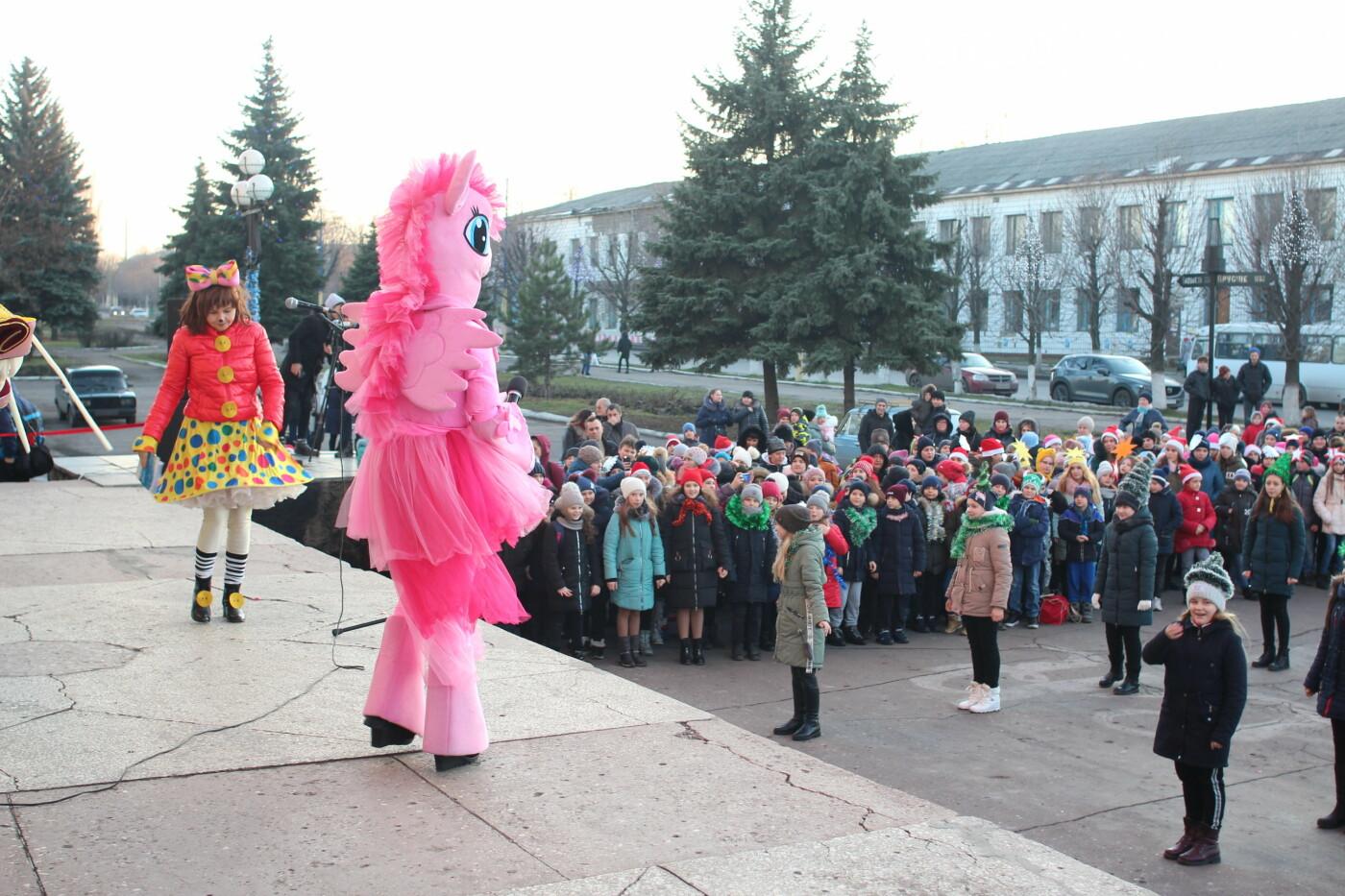 В Мирнограде торжественно открыли главную городскую ёлку, фото-3