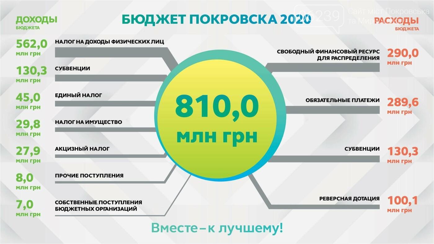 В Покровске утвердили бюджет-2020: решили меньше тратить на праздники и пиар, фото-1
