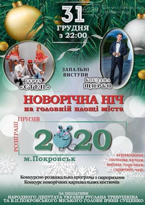 Жителей и гостей Покровска приглашают встретить Новый год на площади Шибанкова - АФИША, фото-1
