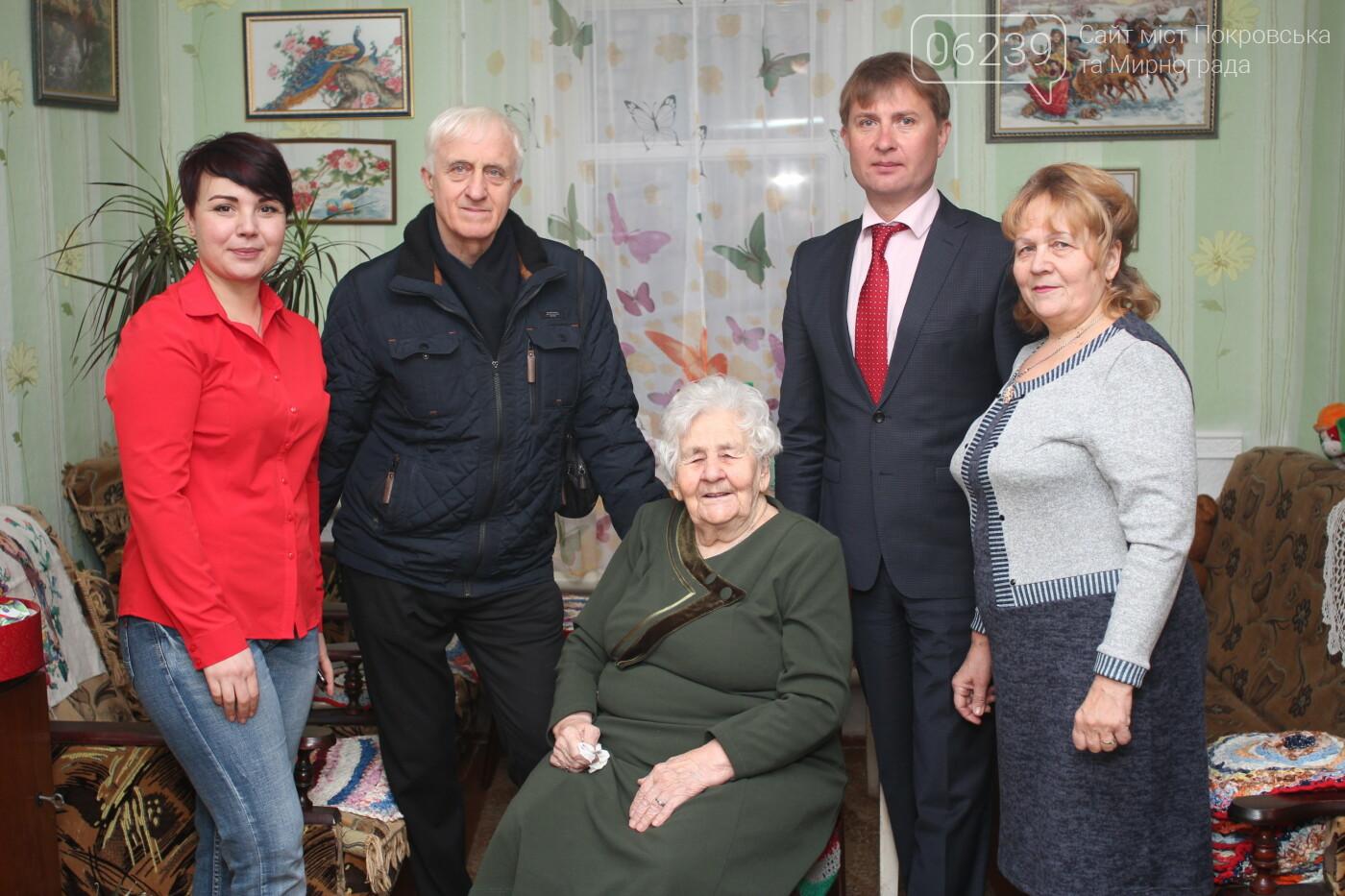 В Мирнограде поздравили с юбилеем долгожительницу города , фото-1