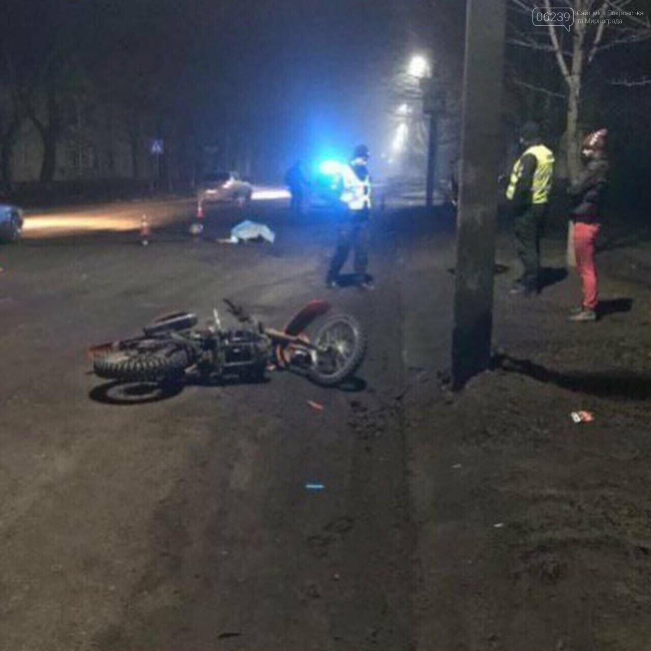 Смертельное ДТП в Мирнограде: мотоциклист не справился с управлением , фото-2