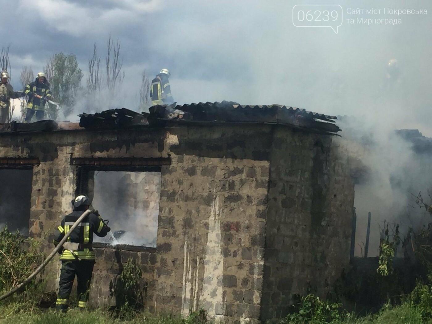 На выходных в Покровском районе горело заброшенное здание, фото-2