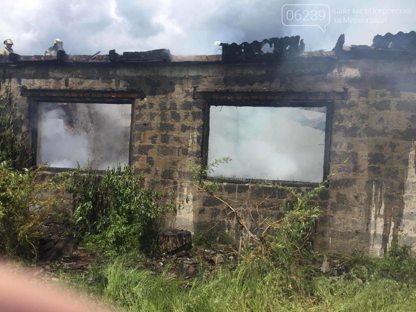 На выходных в Покровском районе горело заброшенное здание, фото-3