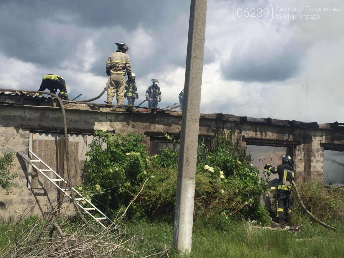 На выходных в Покровском районе горело заброшенное здание, фото-1