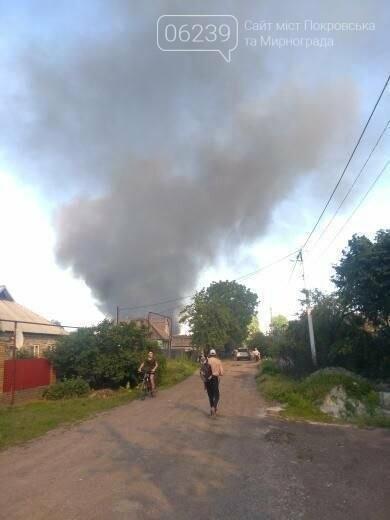 Спасательные части трех городов тушили вчера пожар в Покровске, фото-4