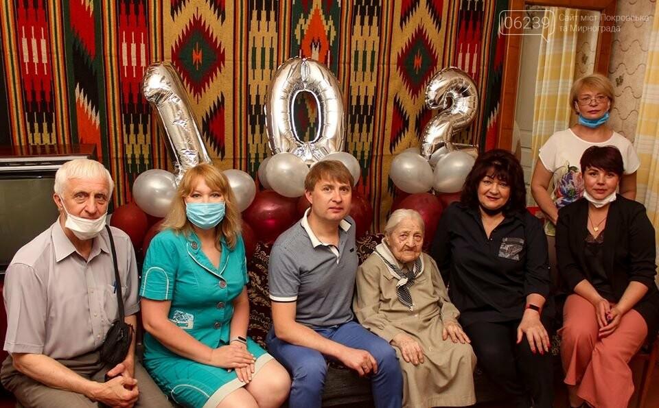 В Мирнограде поздравили с днем рождения самую старшую жительницу города , фото-3