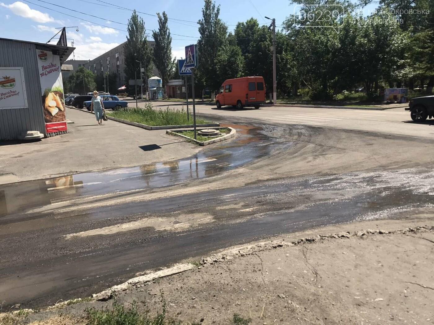 В центре Мирнограда устраняют масштабный порыв воды , фото-3