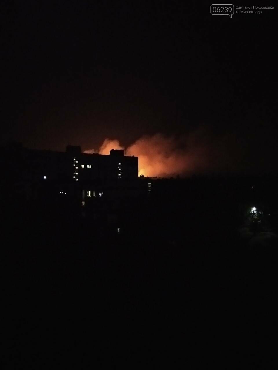 Этой ночью в Мирнограде горело поле, зарево огня видели во всех районах города , фото-3