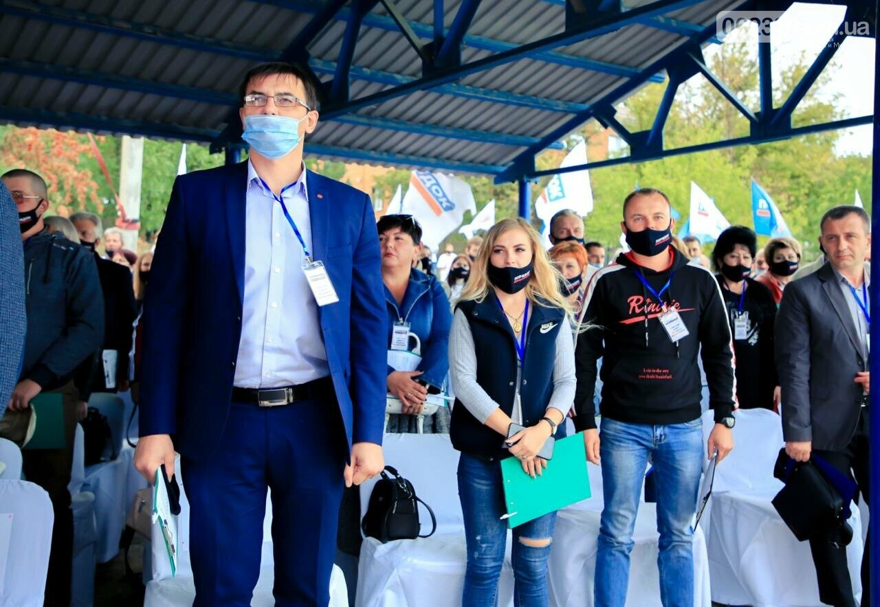 По инициативе лидера партии «Порядок» Леонида Байсарова состоялся Совет трудовых коллективов предприятий Покровска и Мирнограда, фото-70