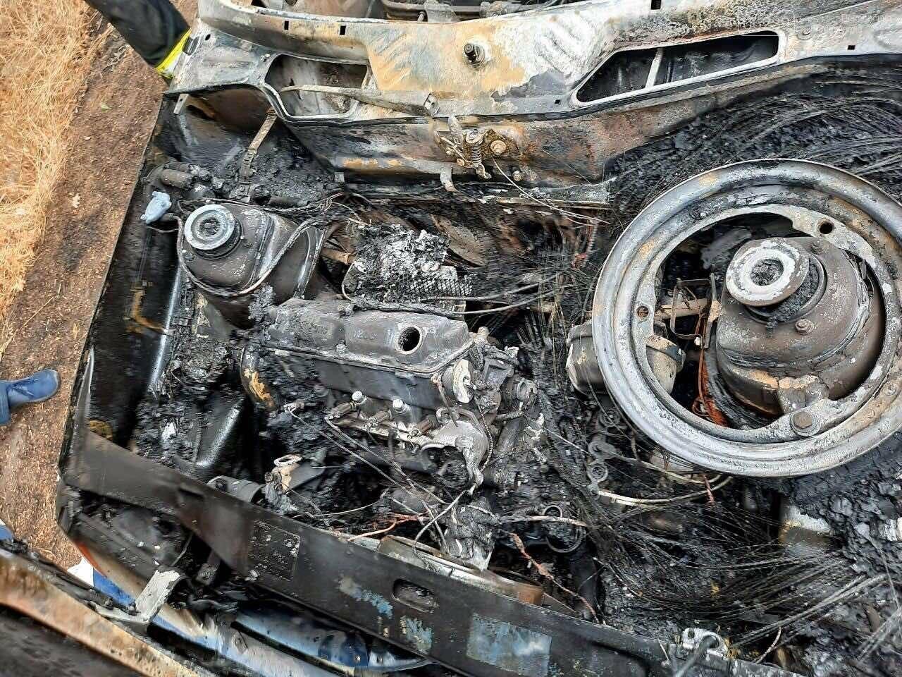 В Покровском районе во время движения загорелся автомобиль, фото-3