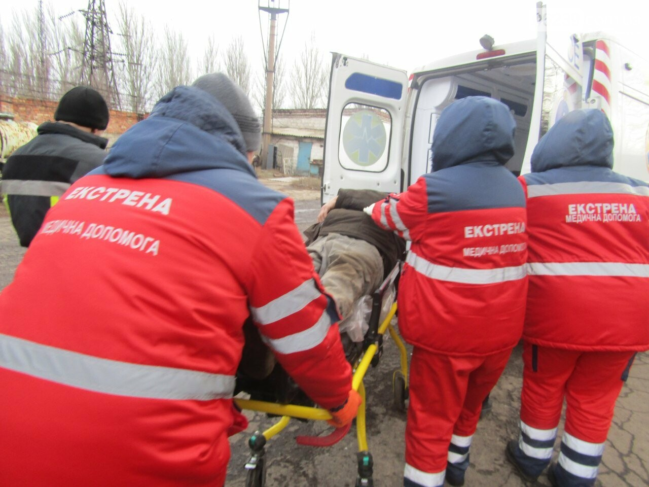 В Покровске на пункте приема металла сегодня произошло ЧП, фото-1