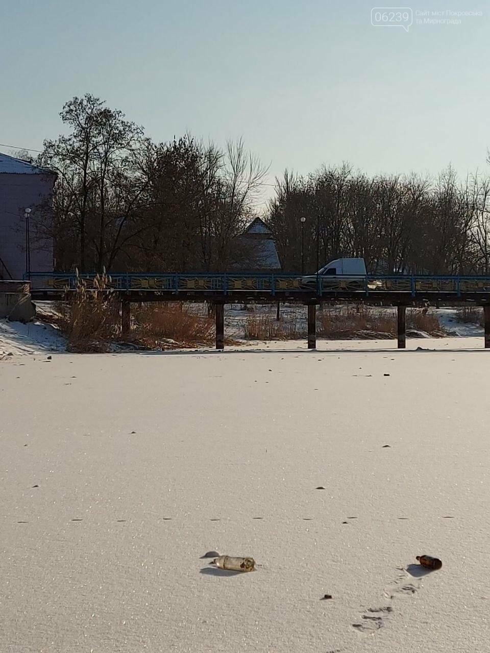В Мирнограде ищут водителя, который на машине ездил по пешеходному мосту , фото-2
