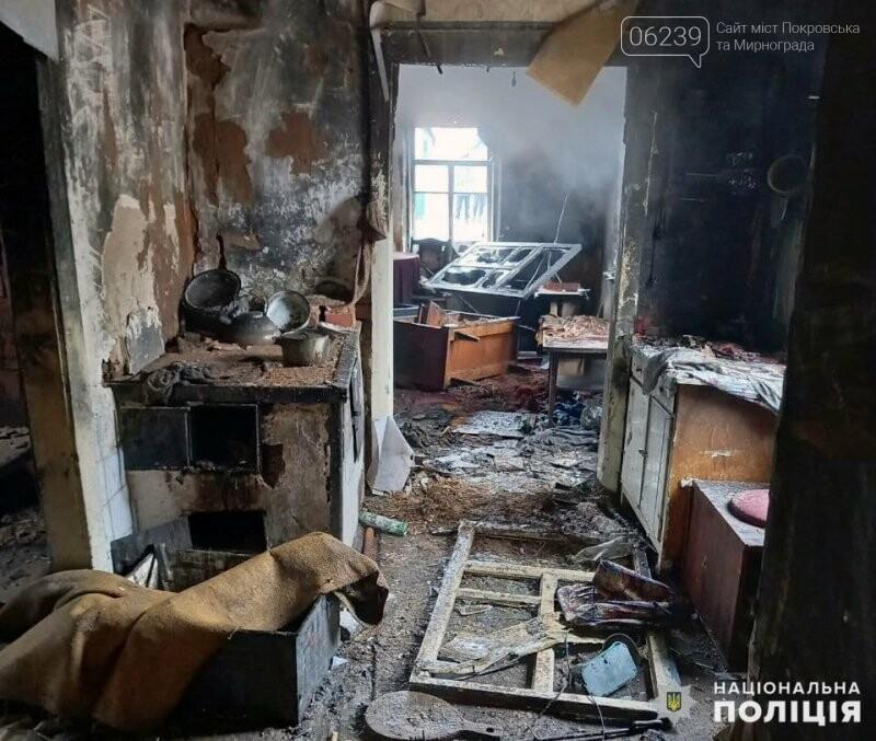 Поліція Покровська розслідує пожежу, в якій загинув чоловік, фото-1