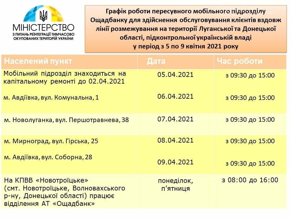 Пересувний мобільний підрозділ «Ощадбанку» 8 квітня працюватиме у Мирнограді, фото-1