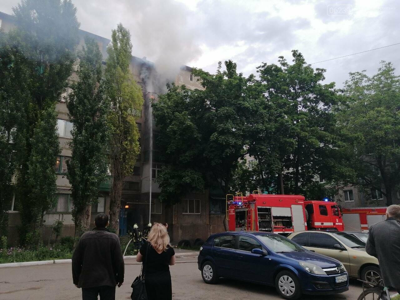 Вчера в Покровске горел балкон в пятиэтажке, фото-1