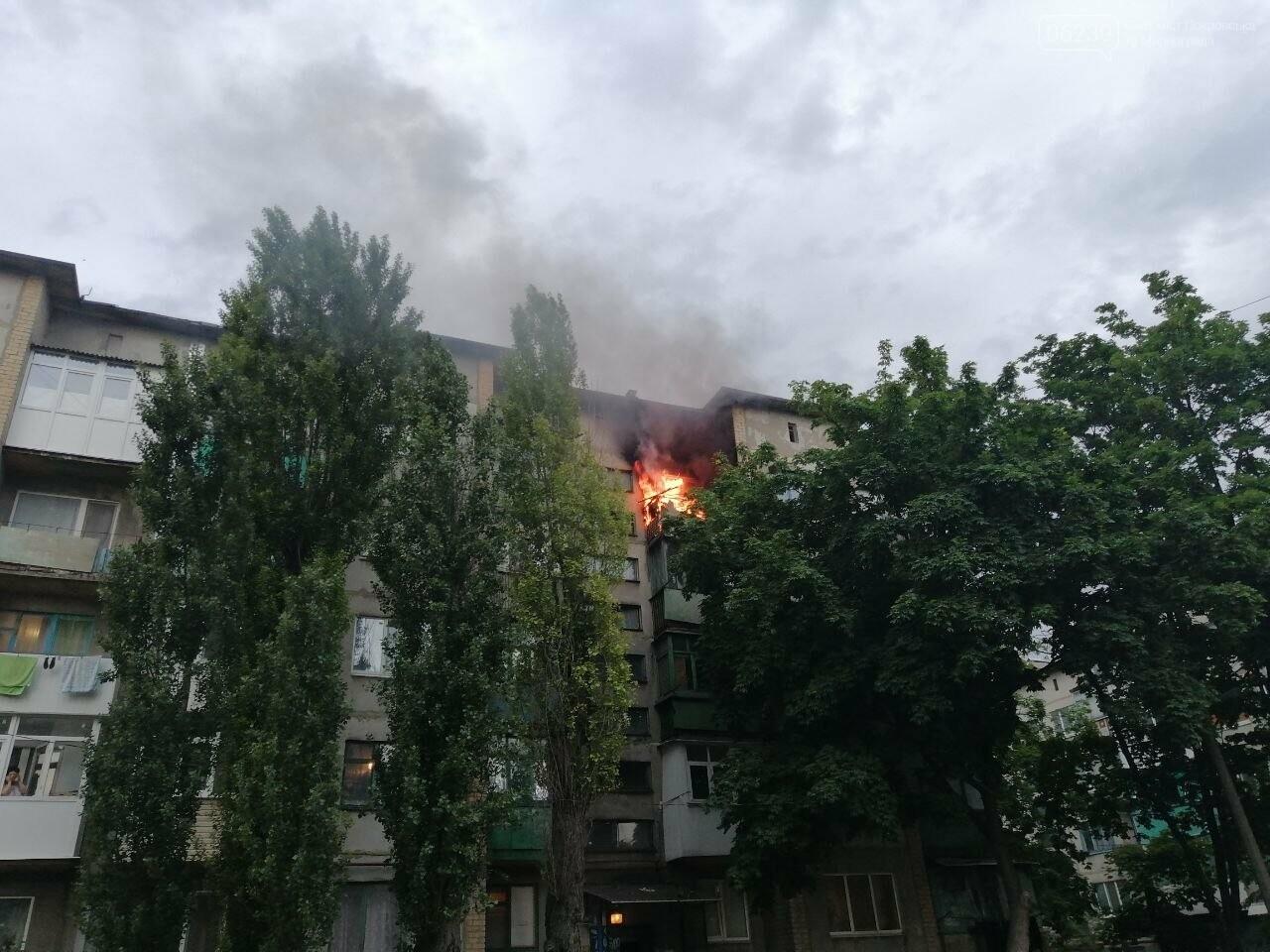 Вчера в Покровске горел балкон в пятиэтажке, фото-3