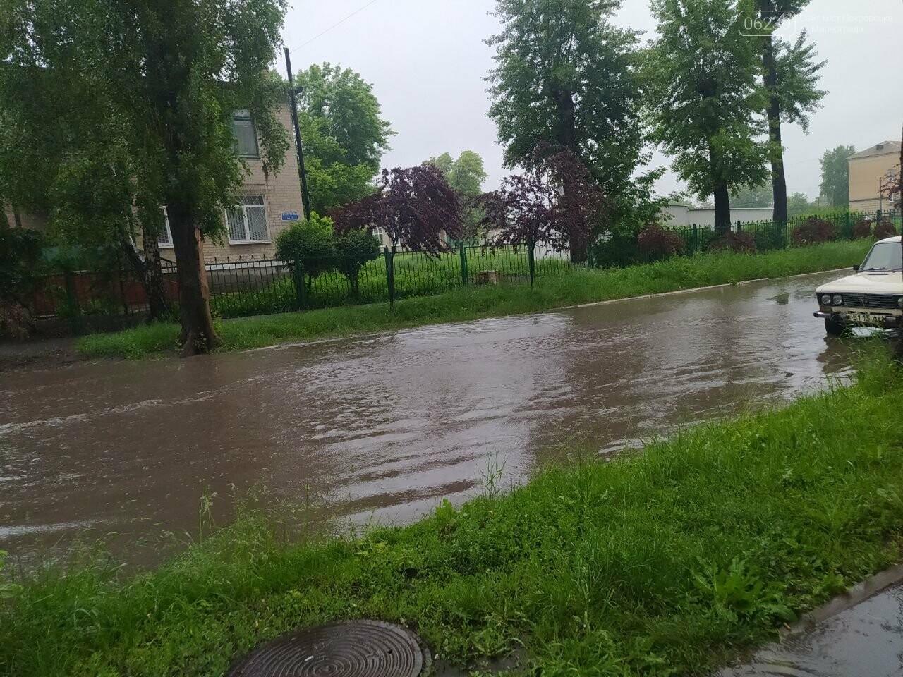 Ливень в Покровске - из-за дождя подтоплены несколько улиц (ФОТО), фото-4