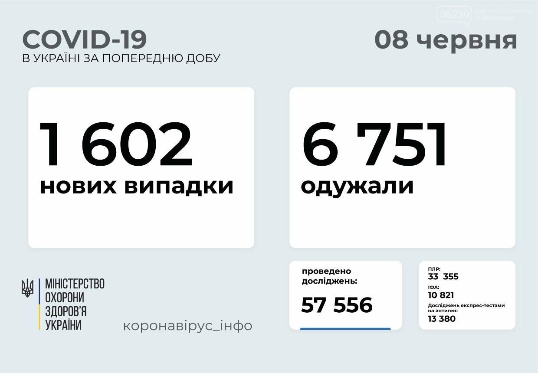 В Украине выявлено 1602 новых случая COVID-19  , фото-1