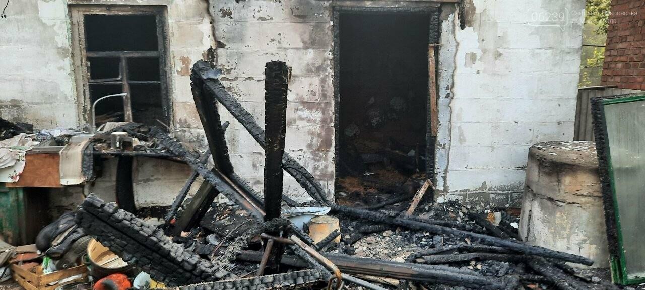 В Покровске из-за пожара в летней кухне погибла женщина, фото-2