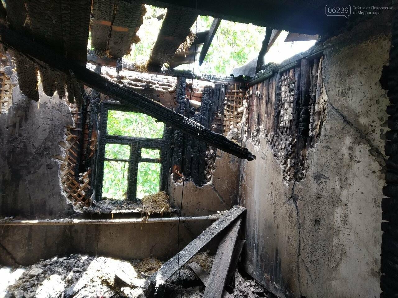 В Мирнограде горел жилой дом, фото-7