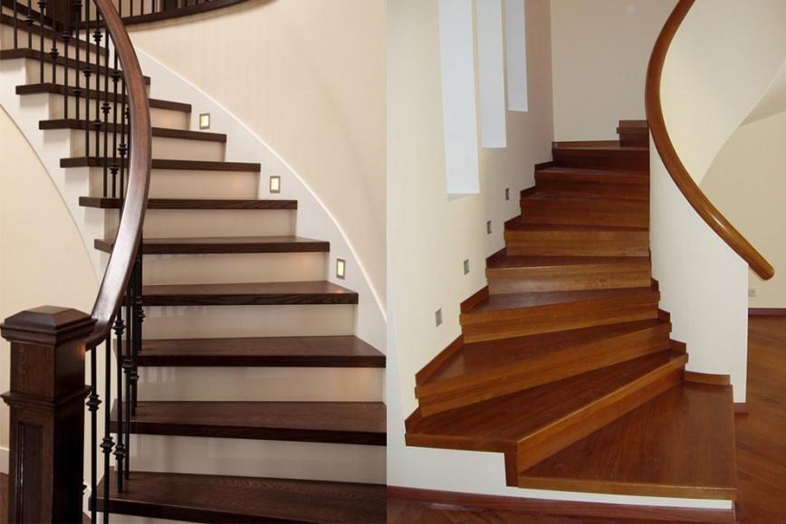 Лестницы из натурального дерева, фото-2